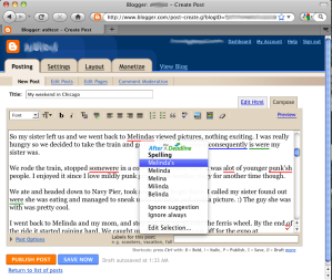 Grammar Checker on Blogger