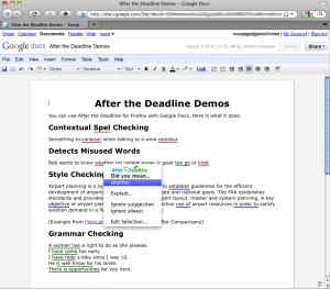 Google Docs Grammar Checker